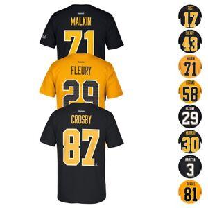 Pittsburgh Penguins NHL Reebok Player Name & Number Premier Jersey T-Shirt Men's