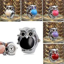 Moda Reloj Mujer Reloj De Mujer Dedo Relojes Anillo Reloj Mini Reloj Retro Búho