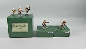 5pc Set Vintage Glossy King & Country HIGHLANDS SEAFORTHS Ammo Box,Bagpipes+