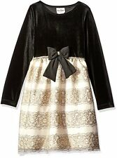 NWT Rare Editions Big Girls' Velvet Bodice to Embroidered Dress, size 7