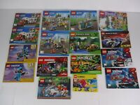 Lot of 16 LEGO Instruction Manuals 8163 76113 9447 60132 60104 75828 10754 60182