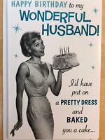 Funny Humorous Husband Happy Birthday American Greetings Card 1950's Housewife