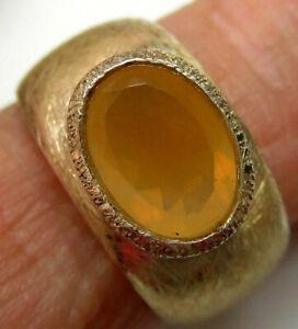 massiver Mexico-Opal-Ring, 925er Silber, Gr. 52