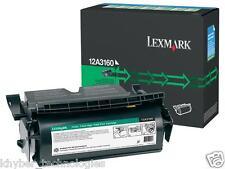 Lexmark 12A3160 Black Laser Toner Cartridge 20K  Genuine Lexmark