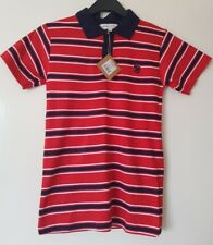 Boys RED STRIPED POLO SHIRT - AGE 11-12 Years - RRP £19.99!!