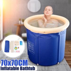Faltbare Badewanne Mobile Badewanne für die Dusche Erwachsenen Faltwanne 70X70cm