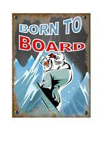 Snowboarding Novelty Metal Wall Sign Skiing  Pub Sign Ski Slope Snowboard Sign