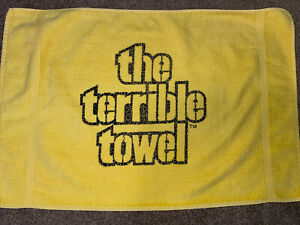 Vintage Pittsburgh Steelers Terrible Towel w/St Mary's Tag pre Cope brand CLEAN