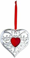 Lenox Gemmed Heart Ornament~ Red Stone~New in Box