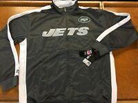 NWT Mens NFL MAJESTIC Sz 4XL Big NEW YORK JETS Zip Front Polar Fleece Jacket 70