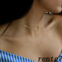 / Chain necklace Karma Dainty Necklace Circle Delicate Outline choker