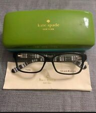 Kate Spade SHARLA-0QG9-49 Women's Black Frame Clear Eyeglasses