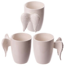 Novelty Ceramic White Coffee / Tea Angel Wings Mug / Cup