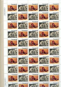 Canada 578 & 579 MNH Complete Pane with Variety 579i x6, still in original pack