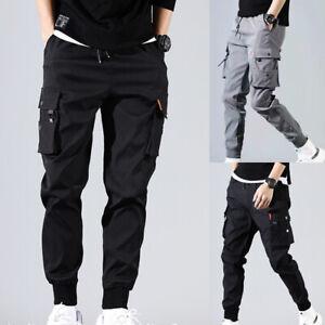 Men's Casual Hip Hop Harem PantsTrousers Cargo Joggers Streetwear Pants Fashion
