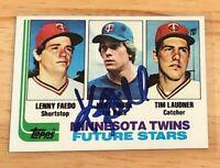 Kent Hrbek 1982 Topps RC Autograph #766 Auto Signed Minnesota Twins NRMT MT