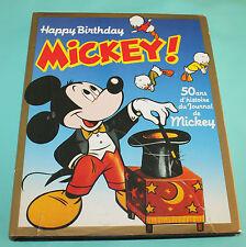 Livre Happy Birthday Mickey 50 ans d'histoires du journal de Mickey