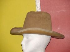 MEN'S HENSCHEL SUEDE LEATHER BROWN  Hat USA EXC COND SHIPPING SALE. Lot B15
