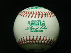 Rawlings MLB Selig Training Ball Green Priniting Leather Baseball