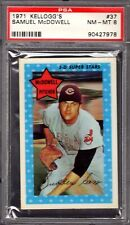 1971 Kellogg's #37 Samuel McDowell Cleveland Indians Prof Graded PSA 8 (NM-MT)