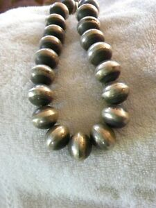 STERLING SILVER HAND WROUGHT ANTIQUED DESERT PEARL BEAD 20MM C CHAMA