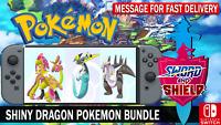 Pokemon Sword & Shield 6IV Shiny Dragapult, Kommo-o, Dracozolt Battle Ready!!