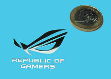 REPUBLIC OF GAMERS METALISSED CHROME EFFECT STICKER AUFKLEBER 35x30mm [72]