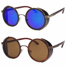 Round Metal Steampunk Men Women Sunglasses Brand Designer Retro Fashion Glasses