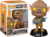 Chewbacca Star Wars 2020 Galactic Convention Exclusive Funko POP w/pop protector