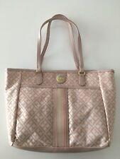 Nuevo tommy hilfiger Shopper Pink Rose monograma oro bolso Bag estados unidos cuero muertos