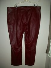 "PLUS LADIES ""PLEATHER"" JEANS PANTS BY VENEZIA   SIZE 26"