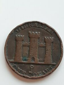 1842 Gibralta one quart coin Victoria good collectable grade