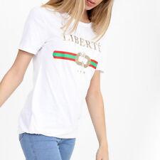 DESIGNER Style Slogan T Shirt Queen Guilty Rebellious Glitter Tshirt Top Cheap Amour Black 2010 S/m UK 8-10