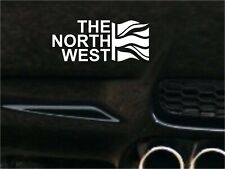 THE NORTH WEST  FLAG Car Decal Sticker JDM VW DUB VAG Euro Race Drift Funny Surf