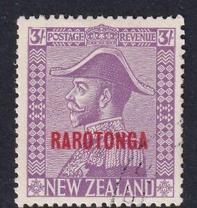 Cook Islands 1926 1928 Rarotonga overprint 3/- mauve SG92 fine used
