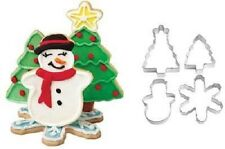 Wilton Christmas Holiday Scene 4 Piece Cookie Cutter Set