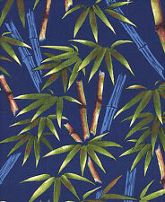 Bamboo Garden - Navy Blue Asian Japanese Oriental Quilt Fabric (By the Half Yd)