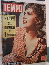 TEMPO 23 luglio 1953 Gina Lollobrigida Caso Beria Cigolini Caffe Greco di Roma