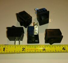 5x Sigma 20A 12V 10A 125 250v Mini Rocker Switch SPST ON-OFF 2-Pin Black Plastic