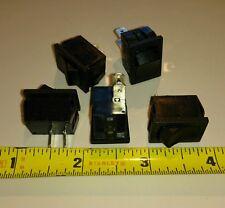 5x Sigma 20A 12V 10A 125 250v Mini Rocker Switch SPST ON-OFF 2-Pin Black Plastic