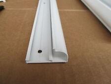 """92"""" White Aluminum Vinyl Insert Type Gutter Drip Rail Trim Molding 1 1/2"""" RV"""