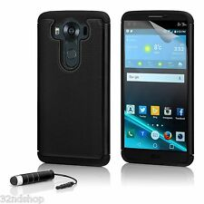 32nd Dual Layer Shockproof Case Cover for LG V10 Screen Protector & Stylus Black