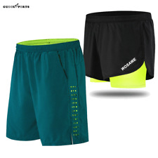Mens Padded Baggy Cycling Shorts Running Sport Loose-Fit Short Pants Breathable