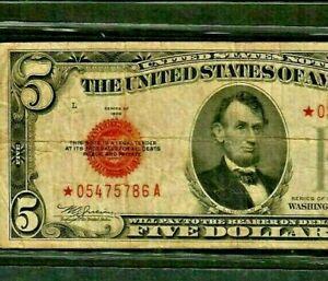 "$5 ""STAR"" (1928-C) ""STAR""(RARE) $5 STAR! STAR! STAR ! (1928-C) STAR>STAR>RARE!!!"