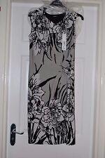 ROMAN ORIGINALS STRETCH PENCIL DRESS GREY,WHITE & BLACK SIZE 12 BNWT