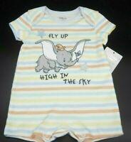 Disney Dumbo Baby Body für Jungen und Mädchen 0-3 Monate 62 cm Strampler Onesie