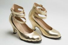 Vivienne Westwood Size 4 Gold Shoes 3 Straps Toe Shaped