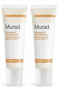 2X MURAD ESSENTIAL C DAY MOISTURE SPF 30, 1.7oz/50ml  NO BOX!! FAST please read