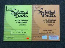 Rubank Selected Duets Trombone/Baritone Volume I & II