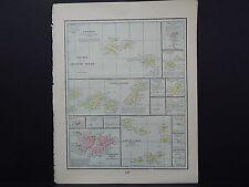 Map Atllantic Islands Canary, Bermuda, Capede Verde Etc George F Cram 1899 S6-02